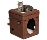 Midwest домик для кошки Currious Cat Cube 38,4х38,4х42h см
