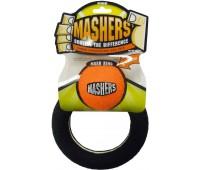 """R2P игрушка для собак Masher """"Кольцо с мячиком"""" вспененная резина с покрытием теннисного мяча 15 см"""