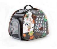Ibiyaya складная сумка-переноска для собак и кошек до 6 кг прозрачная дизайн CatsDogs