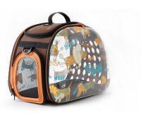 Ibiyaya складная сумка-переноска для собак и кошек до 6 кг прозрачная дизайн собачки