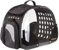 Ibiyaya складная сумка-переноска для собак и кошек до 6 кг прозрачная