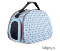Ibiyaya складная сумка-переноска для собак и кошек до 6 кг голубая
