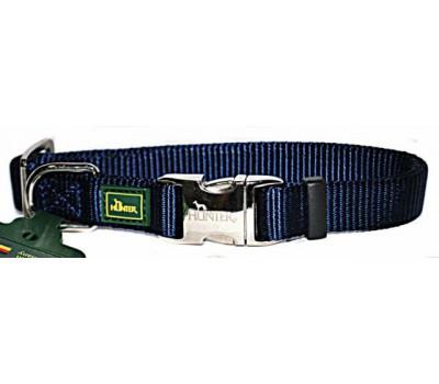 Hunter ошейник для собак ALU-Strong S (30-45 см) нейлон с металлической застежкой темно-синий