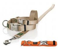 Hunter ошейник для собак ALU-Strong L/25 (45-65 см) нейлон металлической застежкой бежевый
