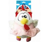 """R2P игрушка для собак Funny Farms """"Цыпленок в юбке"""" плюш 27 см"""