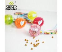 SuperDesign игрушка для собак Мячик с текстильными хвостиками силиконовый 6,5 см