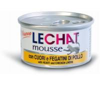 Lechat консервы для кошек сердце/куриная печень 85 г