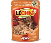 Lechat Pouch паучи для кошек курица/индейка 100 г