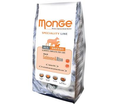 Monge Dog Speciality корм для собак всех пород лосось с рисом 3 кг