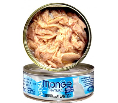 Monge Cat Natural консервы для кошек атлантический тунец 80 г