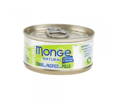 Monge Cat Natural консервы для кошек тунец с курицей 80 г