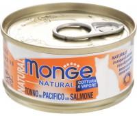 Monge Cat Natural консервы для кошек тунец с лососем 80 г