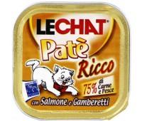 Lechat консервы для кошек лосось/креветки 100 г