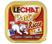 Lechat консервы для кошек говядина/куриная печень 100 г