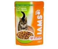 Iams® Adult пауч для кошек с ягненком в соусе 100 г