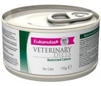 Ветеринарные диетические консервы Eukanuba Restricted Calorie для кошек при ожирении 170 г