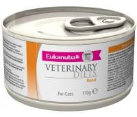 Ветеринарные диетические консервы Eukanuba Renal для кошек при заболевании почек 170 г