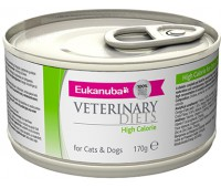 Ветеринарные диетические консервы Eukanuba High Calorie для собак и кошек при стрессе 170 г