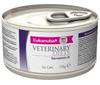 Ветеринарные диетические консервы Eukanuba Dermatosis для кошек при кожных заболеваниях, сопровождающихся воспалением 170 г