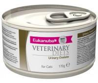 Ветеринарные диетические консервы Eukanuba Urinary Oxalate для кошек при мочекаменной болезни оксалатного типа 170 г