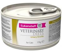 Ветеринарные диетические консервы Eukanuba Urinary Struvite для кошек при мочекаменной болезни струвитного типа 170 г