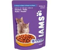 Iams® KittenJunior пауч для котят с курицей в соусе 100 г