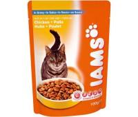 Iams® Adult пауч для кошек с курицей в соусе 100 г