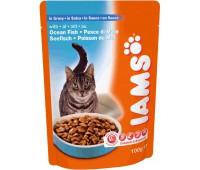 Iams® Adult пауч для кошек с океанической рыбой в соусе 100 г