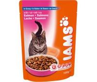 Iams® Adult пауч для кошек с лососем в соусе 100 г