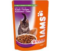 Iams® Adult пауч для кошек с мясом кролика в желе 100 г