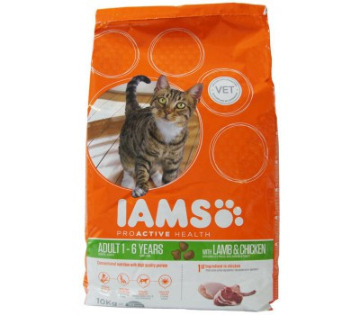 Iams® ProActive Health™ Adult для кошек с ягненком 10 кг