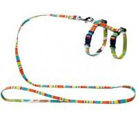 Hunter Smart шлейка для кошек и собак Stripes нейлон разноцветная