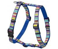 Hunter Smart шлейка для собак Ecco Fun Stripes XS (23-35/25-41 см) нейлоновая синяя в полоску