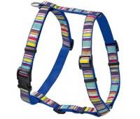 Hunter Smart шлейка для собак Ecco Fun Stripes S (30-45/33-54 см) нейлоновая синяя в полоску