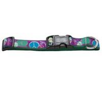 Hunter Smart ошейник для собак Ecco Fun Peace S (30-45 см) нейлоновый с рисунком пацифика