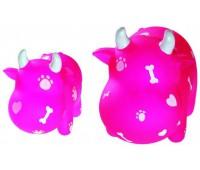 Hunter Smart игрушка для собак Коровка 13 см винил розовая