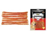 Wanpy Dog лакомство куриная соломка с глюкозамином и хондроитином 100 г