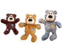 """Kong игрушка для мелких и средних собак WildKnots """"Мишка"""" плюш с канатом внутри 18 см"""