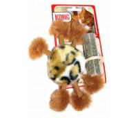 """Kong игрушка для кошек """"Пушистый помпон"""" плюш с тубом кошачьей мяты"""