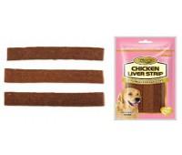Wanpy Dog лакомство куриные полоски с печенью 100 г