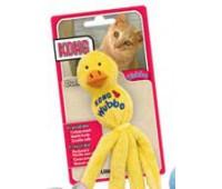 """Kong игрушка для кошек """"Вубба-уточка"""" плюш с тубом кошачьей мяты цвета в ассортименте"""