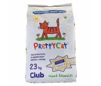 """PrettyCat наполнитель древесный для кошачьих туалетов """"Wood Granules"""" 23 кг."""