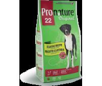 Корм Pronature 22 для собак с рисом и ягненком, 13 кг.