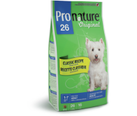 Корм Pronature 26 для взрослых собак малых и средних пород, 2,72 кг.