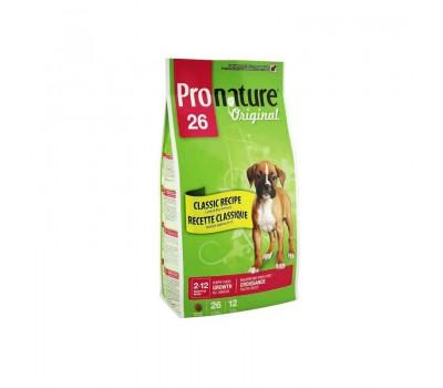 """Корм Pronature 26 для щенков всех пород с ягненком """"Формула роста"""", 20кг."""