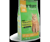 Корм Pronature 28 для взрослых кошек с курицей, 2.72 кг.