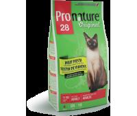 """Корм Pronature 28 для кошек """"Мясо"""" 2,72 кг."""