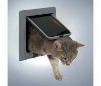 Дверца для кошки серая, 4 позиции