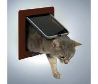 Дверца для кошки коричневая, 4 позиции