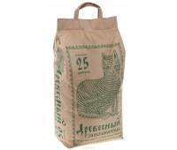 Древесный наполнитель, 25 л (бумажный пакет) - 9,6 кг